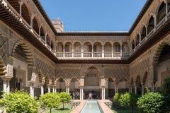 Wirklicher Alcazar von Sevilla, Spanien Stockfotos