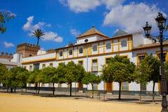Wirklicher Alcazarpatio de Banderas Sevilla Sevillas stockbilder