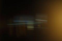Wirklicher Anamorphic Blendenfleck Lizenzfreie Stockfotografie