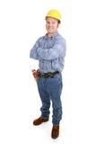 Wirklicher Bauarbeiter - stolz Lizenzfreie Stockfotos