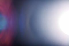 Wirklicher Blendenfleck im Studio über schwarzem Hintergrund Einfach wie hinzuzufügen Lizenzfreies Stockfoto