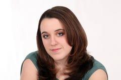 Wirklicher Mädchen Brunette lizenzfreie stockfotografie