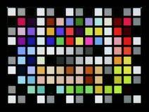 Wirkliches Foto des industriellen Farbkontrolleurstandardziels Lizenzfreie Stockfotografie