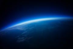 Wirkliches Foto - nahe Raumphotographie - 20km über Boden stockfotografie