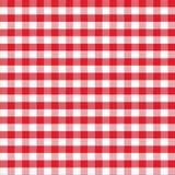 Wirkliches nahtloses Muster der roten klassischen Tischdecke Stockbild