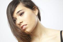 Wirkliches schönes junges Mädchen Stockfoto