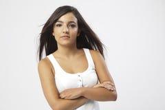 Wirkliches schönes junges Mädchen Stockfotografie