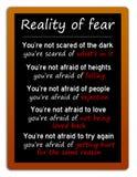 Wirklichkeit von Furcht vektor abbildung