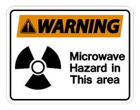 Wirning Microwave Hazard Sign Isolate On White Background,Vector Illustration royalty free illustration