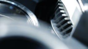 Wirować metal części w machinalnym przyrządzie Przędzalniany mechanizm samochodowy silnik zdjęcie wideo