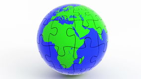 Wirować odosobnioną kuli ziemskiej ziemię od łamigłówki ilustracji