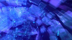 Wirować spirale w przejrzystej czas tubce ilustracja wektor