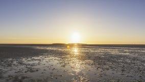Wirral zmierzchu hilbre wyspa fotografia royalty free