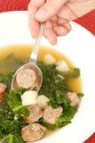 Wirsingkohl-Suppe lizenzfreie stockfotos
