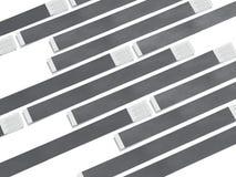 Wirstbands de papel cinzentos rendição 3d Ilustração Royalty Free