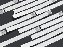 Wirstbands do Livro Branco rendição 3d Ilustração do Vetor