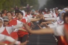 WIRTS-HERAUSFORDERUNG INDONESIENS ASIENSPIELE Stockfotos