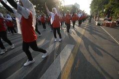 WIRTS-HERAUSFORDERUNG INDONESIENS ASIENSPIELE Lizenzfreies Stockfoto