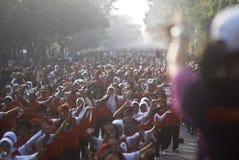 WIRTS-HERAUSFORDERUNG INDONESIENS ASIENSPIELE Stockfotografie