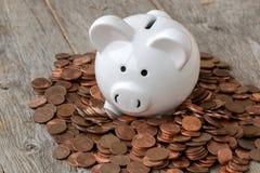 Wirtschaft oder Einsparungenskonzept stockfotografie