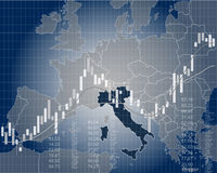 Wirtschaft und Finanzierung von Italien Lizenzfreies Stockfoto