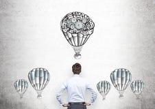 Wirtschaftler airballoons Gänge Stockfotografie