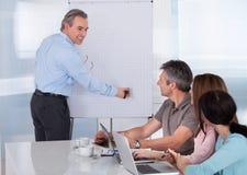 Wirtschaftler in der Sitzung Stockbild