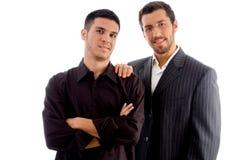 Wirtschaftler, die zusammen stehen Lizenzfreies Stockfoto
