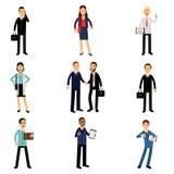Wirtschaftler im Unternehmens-Kleidungssatz, Arbeiter Charakter vector Illustrationen stock abbildung