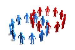 Wirtschaftler-Mitarbeit Stockbild