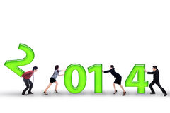 Wirtschaftler verbessern Ergebnisse im Jahre 2014 Lizenzfreies Stockfoto