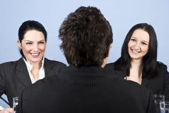 WirtschaftlerVorstellungsgespräch Lizenzfreies Stockfoto