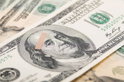 Wirtschaftliche Schuld des Dollarscheins Stockbilder