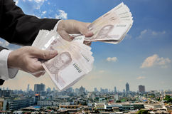Wirtschaftliches Kapitalspritzekonzept Lizenzfreies Stockfoto
