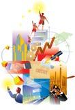 Wirtschaftlichkeit und Zukunft Lizenzfreies Stockbild