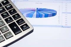 WirtschaftlichkeitKreisdiagramm und caculator Lizenzfreie Stockbilder