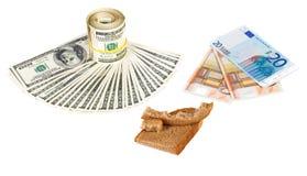 Wirtschaftlichkeitkriseneurobargeld-Konzeptfoto Lizenzfreie Stockfotografie