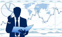 Wirtschaftsanalytiker Stockfotos