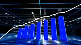 Wirtschaftsdiagrammwachstum lizenzfreie abbildung
