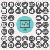 Wirtschaftsikonen eingestellt Lizenzfreie Stockfotos