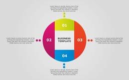 Wirtschaftskreis infographic Stockfoto