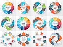 Wirtschaftskreis infographic, Diagramm mit Wahlen Stockfoto