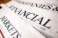 Wirtschaftsnachrichten Stockfotografie
