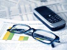 Wirtschaftsnachrichten Lizenzfreies Stockfoto