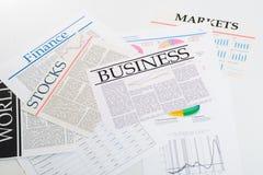 Wirtschaftspresse stockfotografie