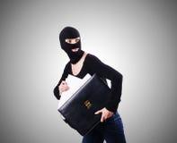 Wirtschaftsspionagekonzept mit Person herein Stockbilder