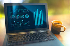 Wirtschaftsstatistikkonzept Stockfotografie