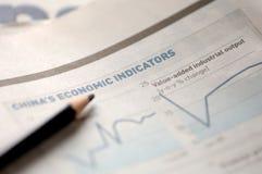 Wirtschaftszeitung Stockfotografie
