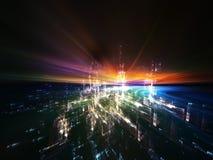 wirtualna abstrakcjonistyczna rzeczywistość Zdjęcie Royalty Free
