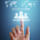 Wirtualna ikona ogólnospołeczna sieć Fotografia Royalty Free
